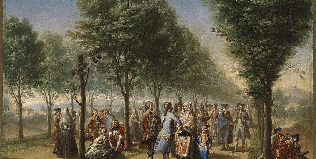 El Paseo de las Delicias, en 1785 pintado por Ramón Bayeu (Museo del Prado)
