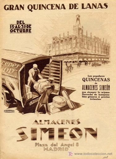 Almacenes Simeon, Madrid
