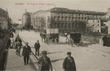 Viaducto de Bailén en 1915. Foto antigua de Madrid