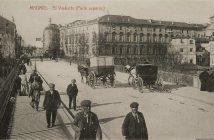 Viaducto de Bailén en 1915. Foto antigua de Madrid