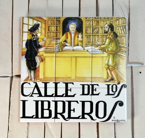 Placa de la calle de los Libreros, Madrid
