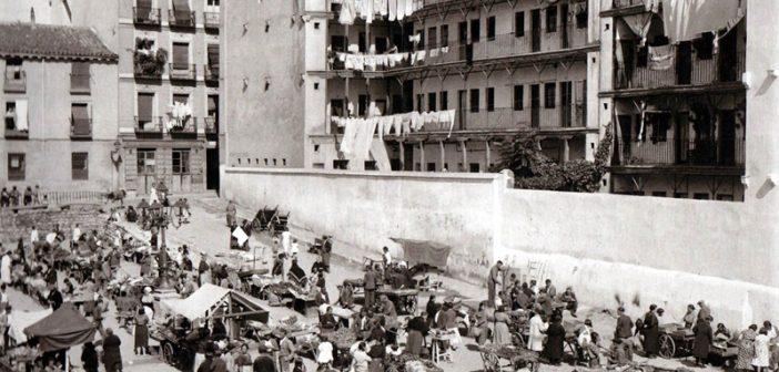 Fotos antiguas de Madrid: Corrala de Mesón de Paredes (1935)