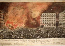 El incendio de la Plaza Mayor de Madrid de 1790